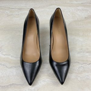 Talbots Leather Pumps Pointed Toe Black Shoes